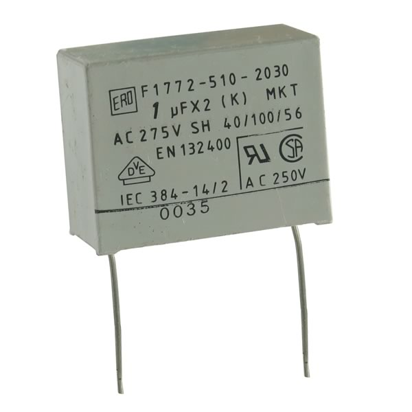 F1772-510-2030 1UF 275VAC Metallized Polyster Film Capacitor