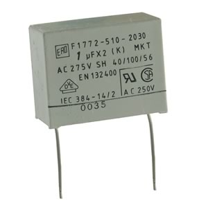 F1772-510-2030 1UF 275VAC Metallized Polyester Film Capacitor
