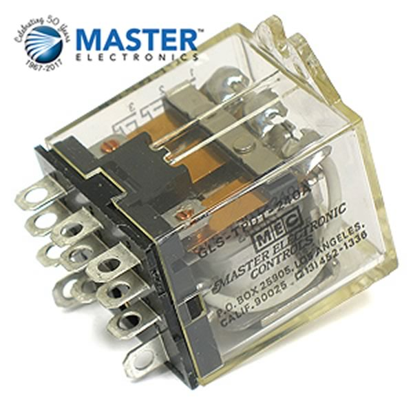 SALE! Master Electronic Controls GLS-TPDT-240A 240VAC Relay 3PDT 10Amp