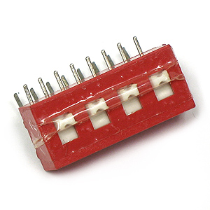 4 LEVER 2 Pole Dip Switch (Pkg of 2)