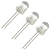(Pkg of 3) Large 8MM White LED