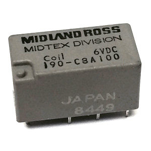 Midland Ross DPDT 6VDC Relay 190-C3A100