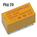 (Tube of 20) CDR752CSQPN-24 Compact 24VDC DPDT Relays