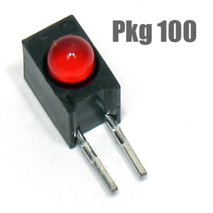 (Pkg 100) 5600F1 Right Angle Red LED