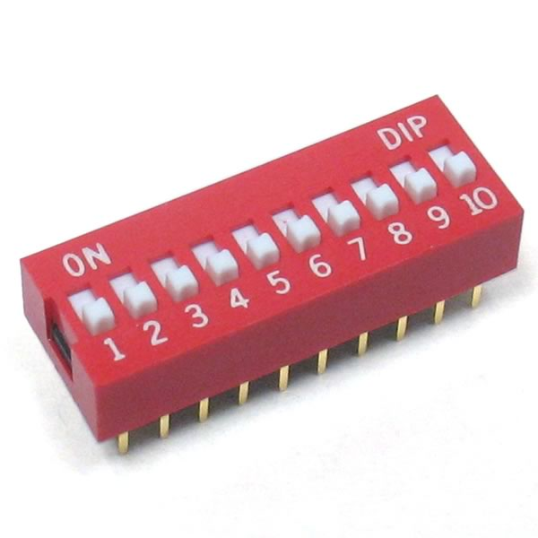 (Pkg of 4) High Quality 10 Position Dip Switch