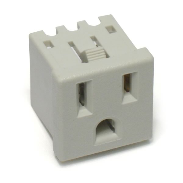 (Pkg of 2) Chassis Mount 15Amp Grounded Outlet