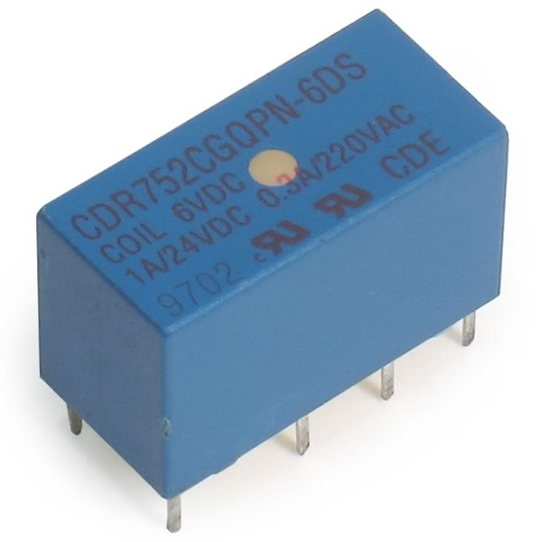 (Pkg 4) 6VDC Miniature DPDT Relay CDR752CGQPN-6DS
