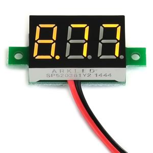 Yellow 2.6V to 30VDC Voltmeter