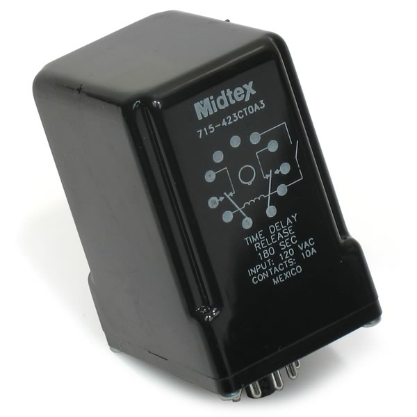 Midtex 715-423CT0A3, 180 Second, 120VAC, Time Delay Relay
