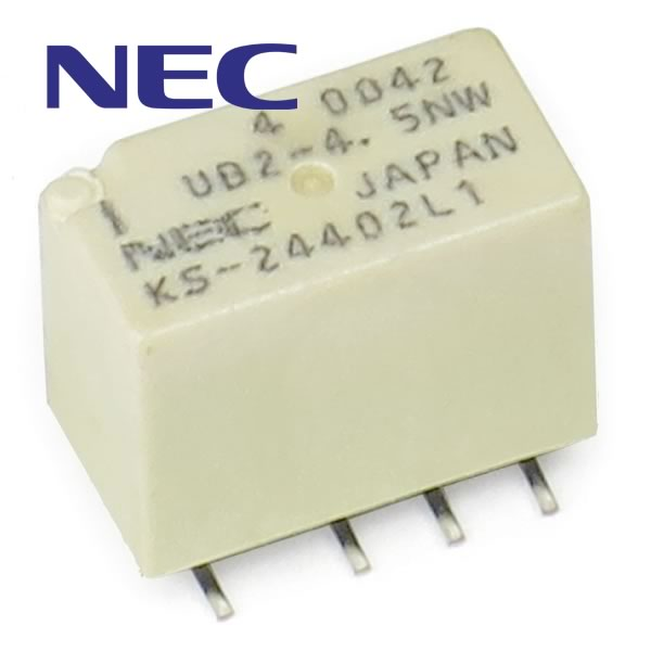 (Pkg of 4) UB2-4.5NW Tiniest 4.5VDC DPDT Relay