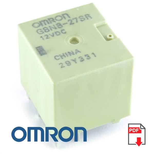 (Pkg 5) Omron G8NB-27SR 12VDC Twin Relay