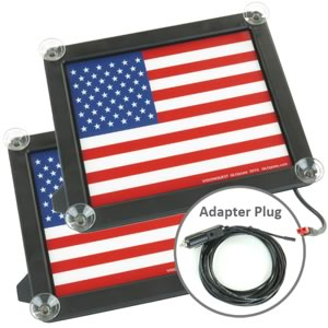 (Pkg 2) GloPlate Giant Brilliant Glowing American Flag