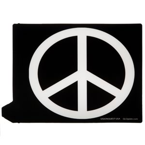 GloPlate : Peace Logo (Black & White)