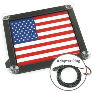 GloPlate Giant Brilliant Glowing American Flag