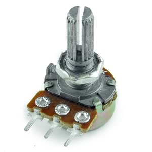 (Pkg 5) Miniature 500K Linear Taper Potentiometer
