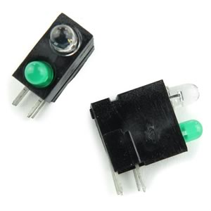 (Pkg 25) T1 Green & T1 Infrared Right Angle LED