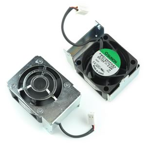 Sunon PMD1204PKB3 12VDC Fan Mounted to Metal Frame