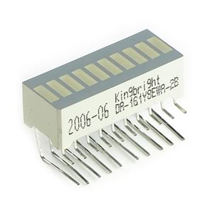 (Pkg of 2) Multicolor Right Angle Bargraph Display