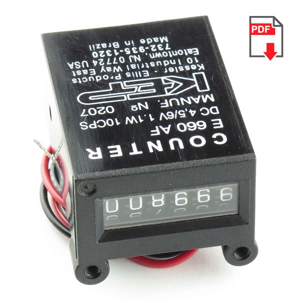 (Pkg 2) Kessler Ellis E660AF 4.5 to 6VDC Impulse Counter