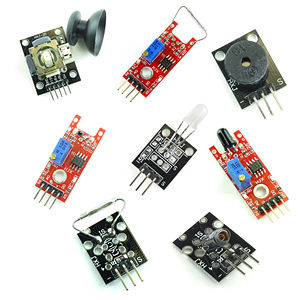 (Pkg 8) Deluxe Sensor Assortment for Open Source Logic Boards