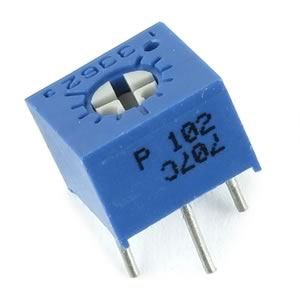 (Pkg 10) High Quality Bourns Single Turn 1K Micro Trimmer Resistor