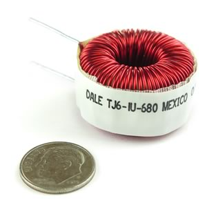 (Pkg 5) Dale TJ6-1U-680 Large 680uH Inductor