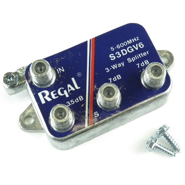 (Pkg 5) Regal 5-600MHZ TV Band Splitter