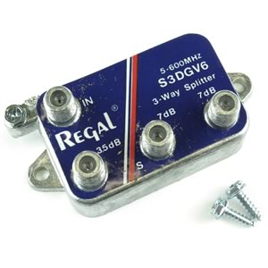 Regal 5-600MHZ TV Band Splitter