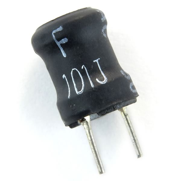 (Pkg 4) Small 100uH Radial Ferrite Inductor