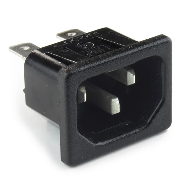 (Pkg 3) Business Machine Cord Snap in Outlet