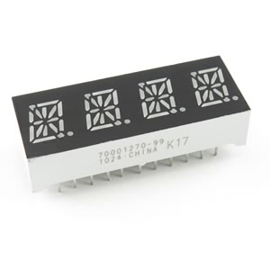 (Pkg 3) Brilliant Green 4 Digit Alphanumeric Display
