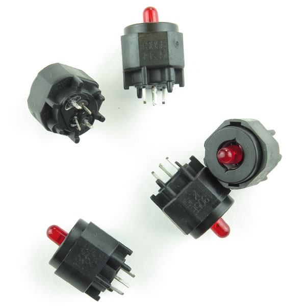 (Pkg 10) High Performance Lighted ITT Cannon Key Switch
