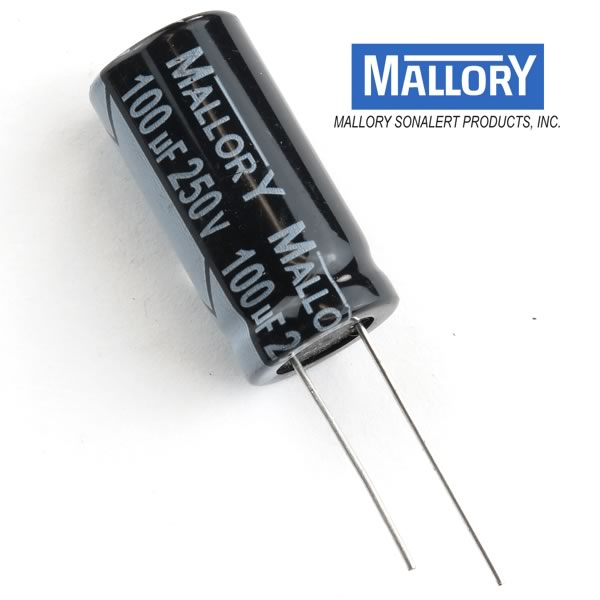 Mallory 100uF 250V Electrolytic Capacitor