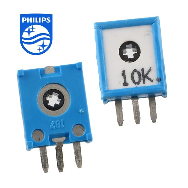 (Pkg 10) 10K Mini Vertical Trimmer Resistor