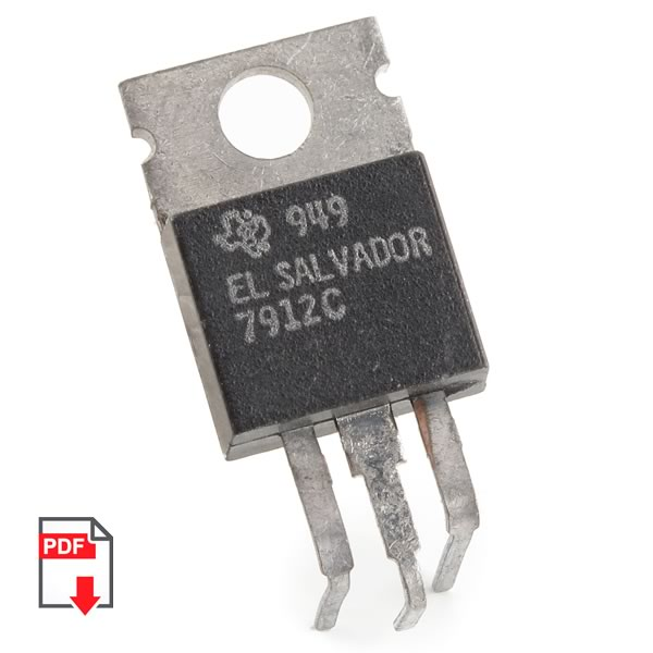 (Pkg 10) Texas Instruments 7912 -12V 1Amp Voltage Regulator