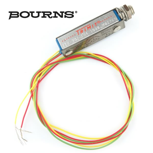 (Pkg 2) Bourns® Panel Mount 100K 25 Turn Trimmer Resistor 272-582-104M