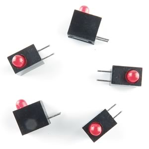 (Pkg 10) Super Bright Right Angle Red LED