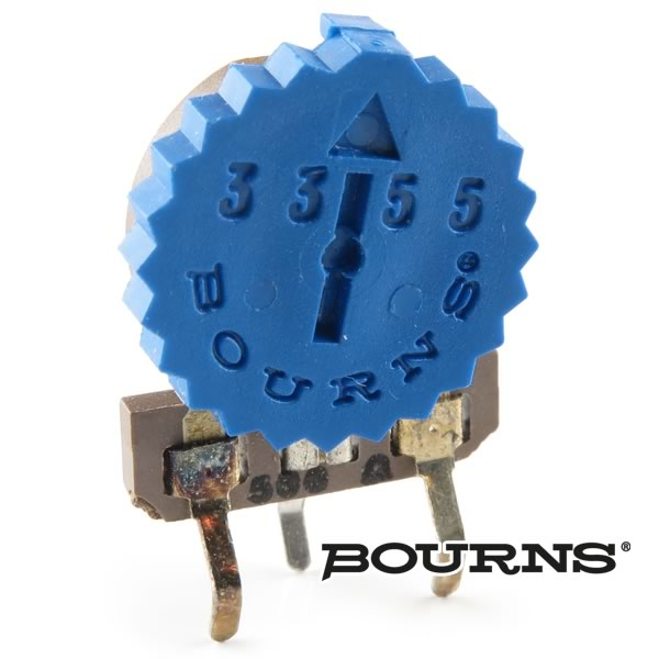 (Pkg 10) Bourns 3355X-1-501 500Ω Thumbwheel Trimmer