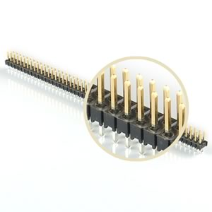 (Pkg 3) Dual Snap Apart 50 Pin Gold Plated Male Header (100 Pin)