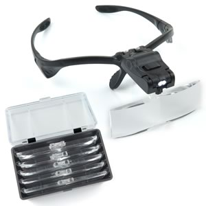 Our Most Comfortable 5 Lens Illuminated Head Magnifier