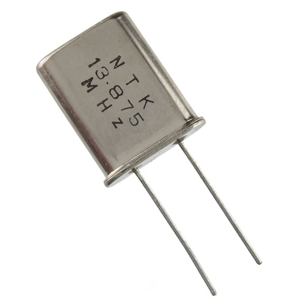 (Pkg 25) Miniature 13.875MHz Crystal