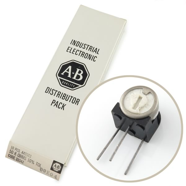(Box of 10) Allen Bradley 50K Trimmer Resistors
