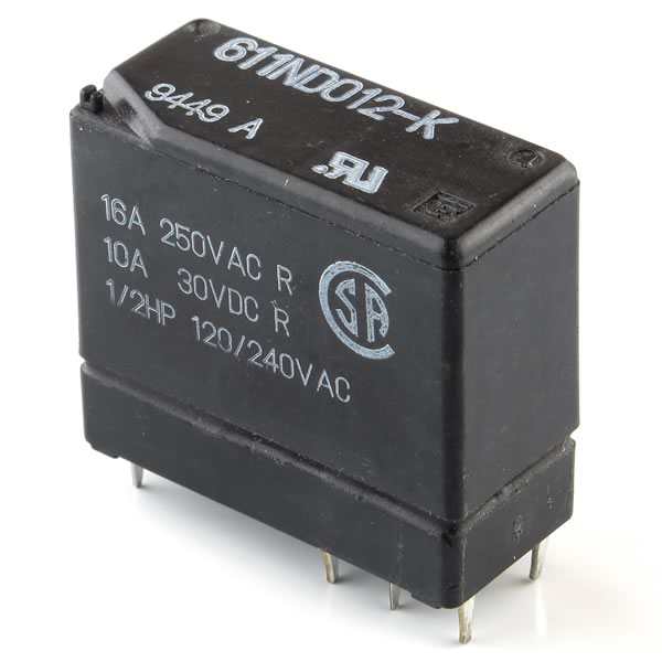 Compact Powerful 12VDC DPDT 16Amp Relay