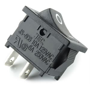 (Pkg 10) Jackson Electronics JS-606 SPST Switch