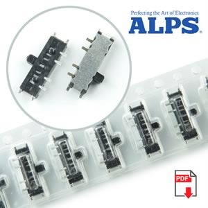 (Pkg 25) ALPS Tiny SMD Slide Switch SSSS812201