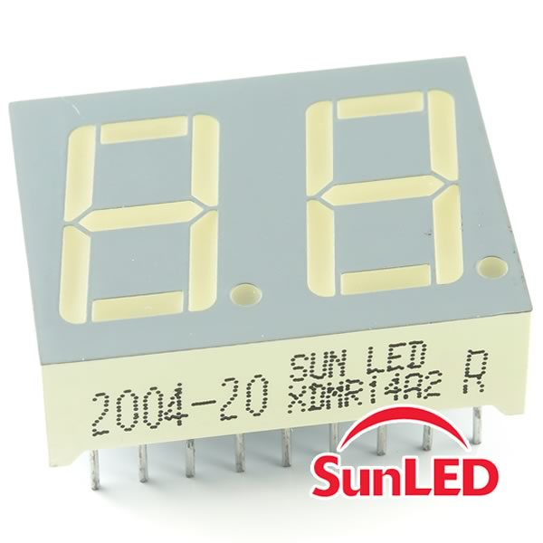 (Pkg 4) SunLed XDMR14A2 Dual Common Anode Red Display