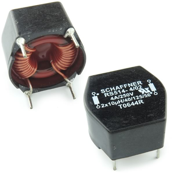 (Pkg 2) RS514 - 4/02 Schaffner EMI Suppression Common Mode Chokes / Filters