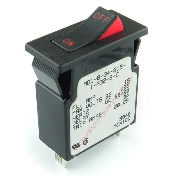 MD1-B-34-615-1-A32-B-C / 15Amp Breaker Switch