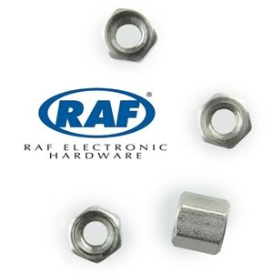 (Pkg 12) RAF Electronic Hardware 2052-440-SS Stainless Steel Hex Standoff