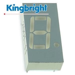 (Pkg 4) Kingbright 7 Segment Common Cathode Red Display SC04-11EWA